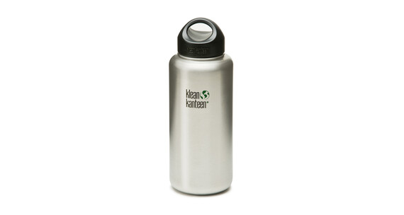 Klean Kanteen Wide m. rvs Loop Cap 1182ml geborsteld rvs